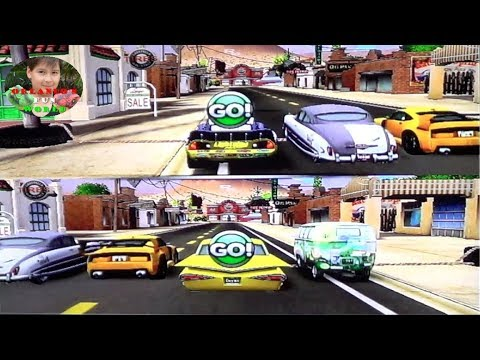 DISNEY PIXAR CARS – MATER NATIONAL – RADIATOR SPRINGS CIRCUIT – LIGHTNING VS YELLOW RAMONE